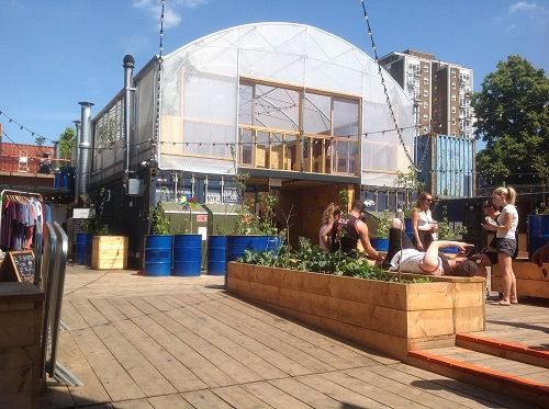 Greenhouse ontop of Containers using space successfully