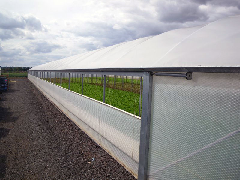 Keder Vent System fitted to a Keder Growing House