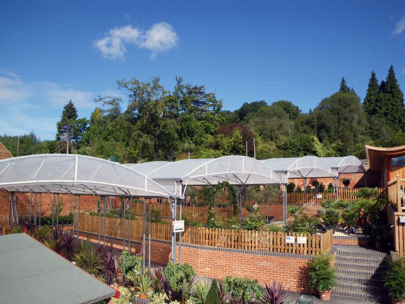 Multi bay 8m Keder Canopy at Batsford Arboretum