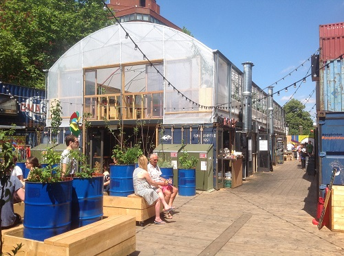 Pop Brixton Greenhouse and Container community