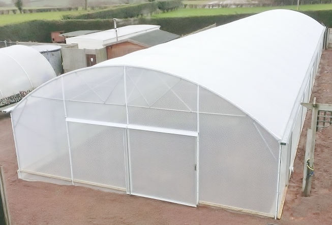 Single span 8m wide domed roof