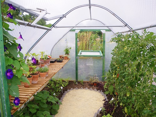 Greenhouse crop Rails, Staging and Roof Vent Accessories